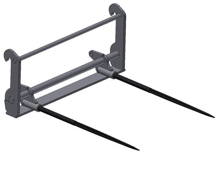 Bale fork carrier