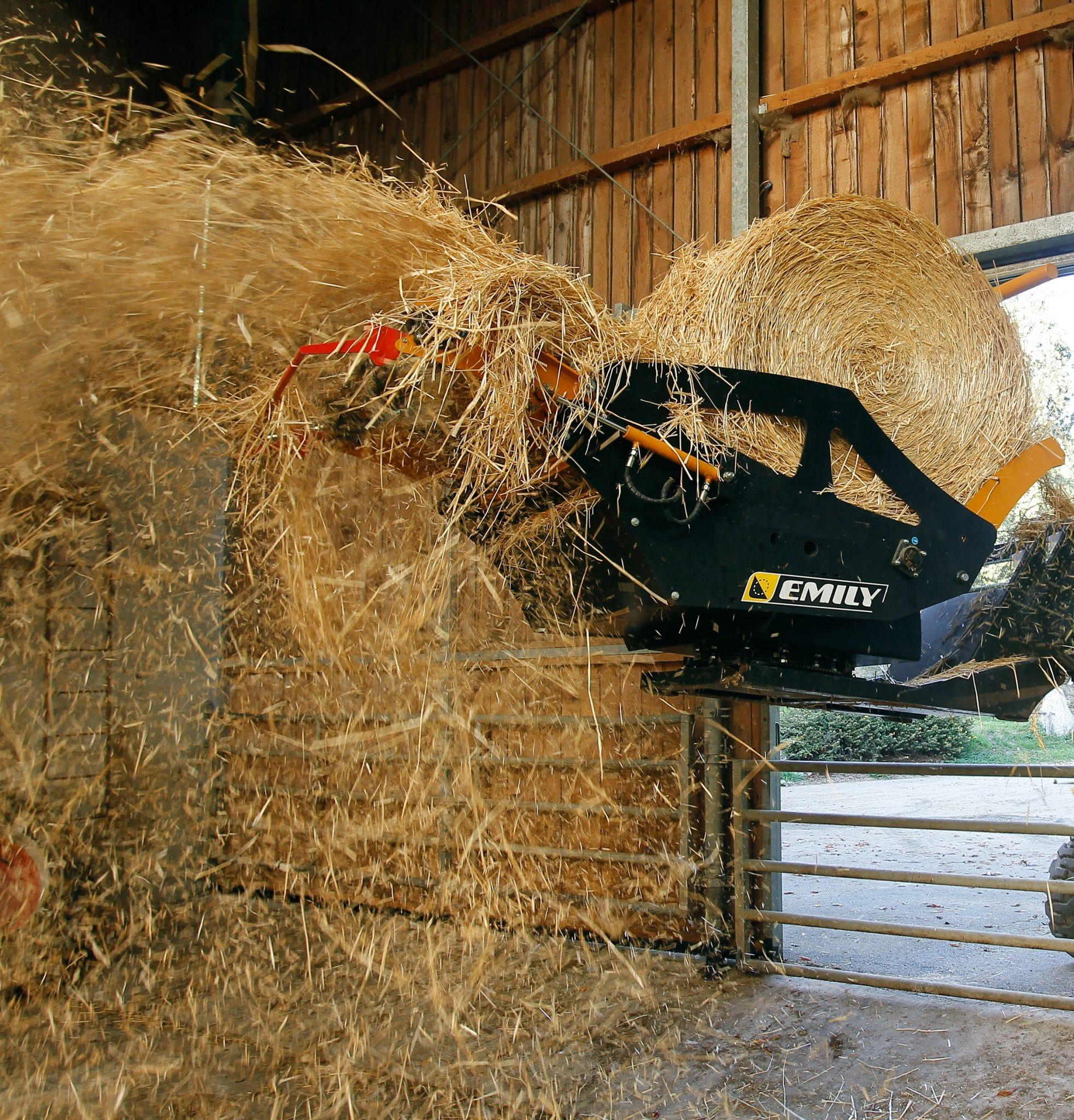 Mounted bale unroller