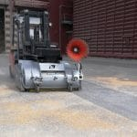 Forklift sweeper collector without connection – Indoor / Outdoor cleaning Leader'Clean